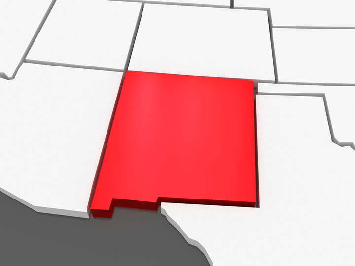 3d new mexico map
