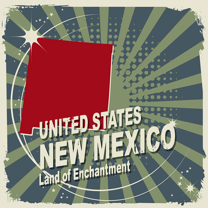 abstract new mexico map